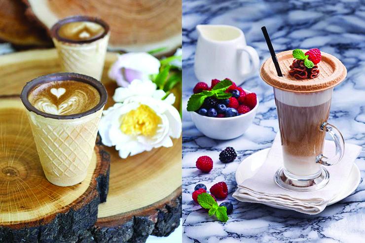 вафельні стаканчики для кави